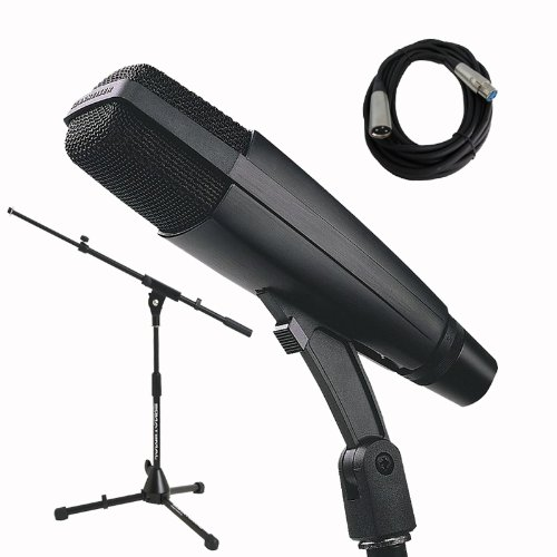 Sennheiser MD421 II Dynamic Vocal or Instrument Microphone with Ultimate Support JS50TB Mic Stand and Cable