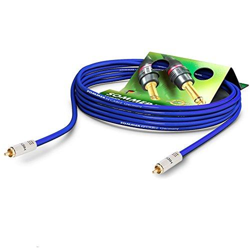 Sommer Cable 0,9m S/PDIF Cinch Digital Kabel 75 Ohm | Subwoofer | Video | SC-Vector 0.8/3.7 | 2x HI-CM12-BLK Stecker | VT2I-0090 - Blau