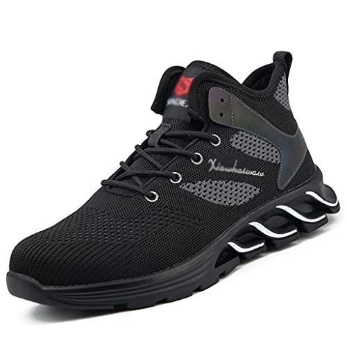 Zapatos de Trabajo Zapatillas de Seguridad con Toe de Acero Zapatos de Seguridad para Hombre Entrenadores Ligeros al Aire Libre Zapatos Casuales a Prueba de pinchazos Zapatillas de Deporte de Trabajo