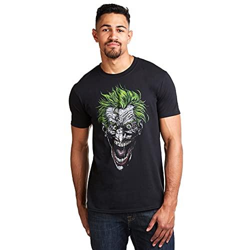 DC Comics Joker Camiseta, Negro (Black...