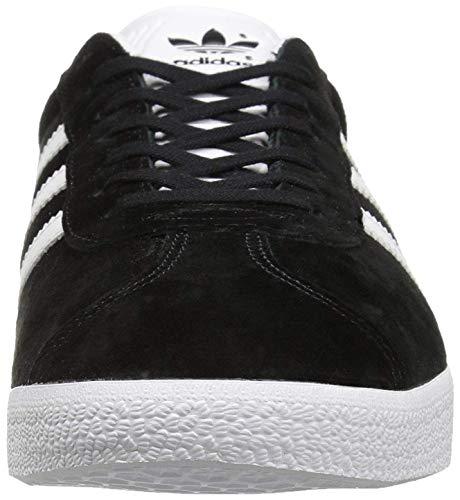 adidas Originals Gazelle Baskets pour Homme - - Noyau Noir, Blanc, Or métallique, 42 2/3 EU