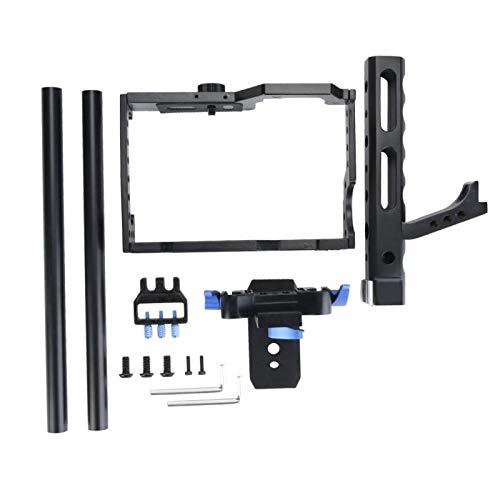 Sxhlseller Portátil de la Jaula de la cámara, Accesorio de Agarre de la manija Superior del estabilizador del Aparejo de Aluminio para la cámara DSLR DV