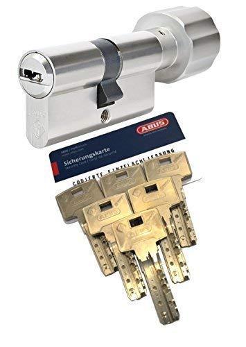 ABUS Bravus.4000 BZD Knaufzylinder mit 6 Schlüssel, Länge (a/b) 40/K35mm (cm=75mm) K=Knaufseite, nach DIN EN1303, Angriffswiderstandsklasse D, RC2/RC3 Level geeignet