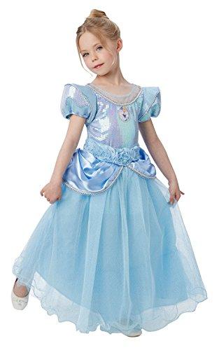 Princesas Disney - Disfraz de Cenicienta Premium para nia, infantil 5-6 aos (Rubie's 620480-M)