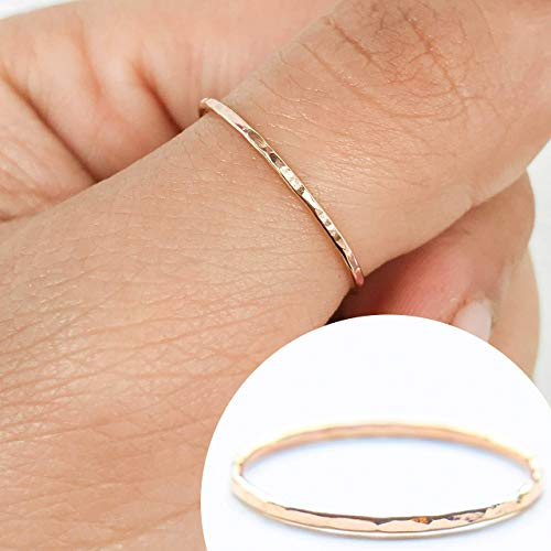 Simple Gold Filled Rings Gold Fill Ring dainty blue ring Gold Filled Ring Thin Gold Ring Nil