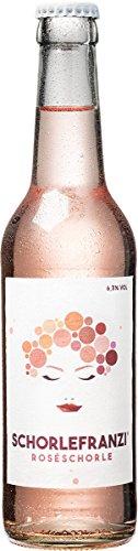 Schorlefranzi vegane Rosé-Schorle von Schorlefranz - Die liebliche kleine Schorle für deine Sommerparty – Perfekt für deinen Mädelsabend - 0,33l - 6er Pack