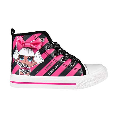 Cerdá L O L Surprise! | Mädchen Turnschuhe | Schön Gestaltet | Der Neueste Trend! | FunkeIn Glanz Mädchen süße Schuhe! | Mit ihrer Lieblingspuppe! | (31 EU, Pink und Schwarz High Top)