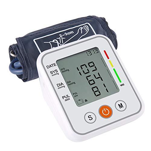 RoeamTensiometro de Brazo,Monitor de Presión Arterial, Automática de la presión Arterial,Detección de frecuencia de Pulso,Transmisión de Voz Pantalla LCD Herramienta de diagnóstico Familiar