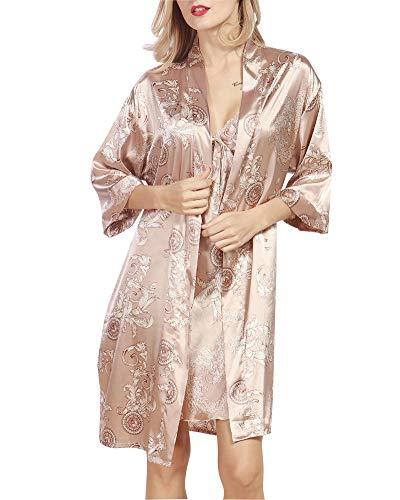 Camisón para Mujer con Vestido Kimono Satén