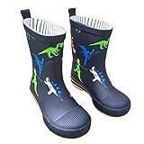 [AMIGGOO] 子供用 レインブーツ 可愛い 長靴 キッズ レインシューズ 雨靴 ジュニアスニーカー 子ども 幼児 小学生 女の子 男の子 雨 雪遊び 雨具 防水 防寒 入園準備 通園 通学 梅雨対策 ダイナソー クマ