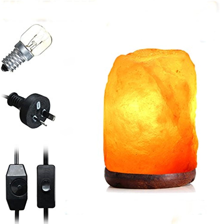 JINHUGU 14 X 10 cm Natürliche Himalayan Luftreiniger Bergkristall Salz Lampe Tisch Nachtlicht Dimmer Switch