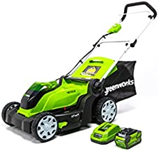 Greenworks G-MAX 40V 17'' Brushed Mower with 4Ah Battery and Charger - 2508302 model