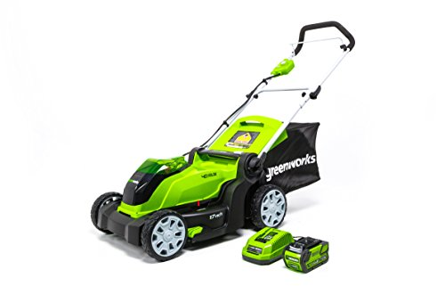 Greenworks G-MAX 40V 17'' Brushed Mower with 4Ah Battery and Charger 2508302