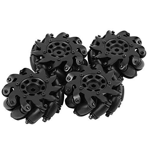 DishyKooker Spielzeug für die Entwicklung4PCS Drive Wheel Robot Kit Allrichtungsräder für Aluminiumlegierung Mecanum mit Langer Lebensdauer ohne Verformung