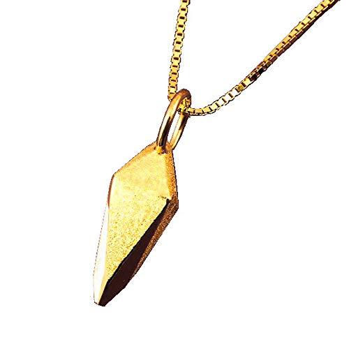 [アトラス] Atrus ネックレス メンズ 24金 純金 ゴールド フーチ ペンデュラム ペンダントトップ チェーン(sv925イエローメッキ)