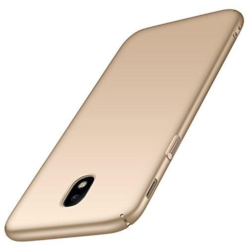 Anccer Kompatibel mit Samsung Galaxy J5 2017 Hülle, [Serie Matte] Elastische Schockabsorption und Ultra Thin Design (Glattes Gold)