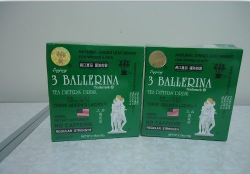 2 Boxs 3 Ballerina Dieter Tea Herb Slim Weight Loss Natural Green
