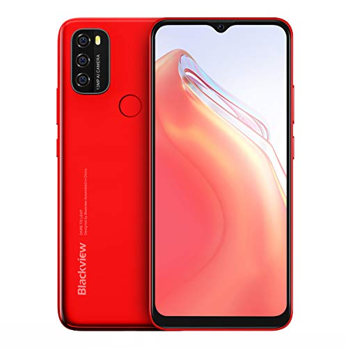 Mobile A70, 3GB + 32GB, 5380mAh, Android 11.0, Octa Core, 4G, 6.51'HD + 13MP Cámara trasera, Face ID, reconocimiento de huellas dactilares (rojo)