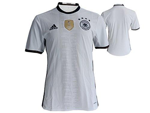 adidas Deutschland DFB Home Fußball Jersey Heim FussballTrikot weiß EM 2016 WM 2018 Die Mannschaft, Größe:XL