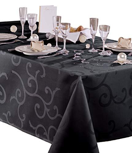 Damast-tafelkleed, gecoat, Madigan, rechthoekig, 140 x 250 cm