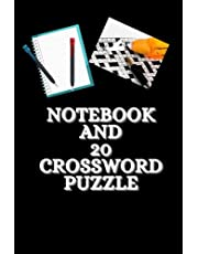 NOTEBOOK AND 20 CROSSWORD PUZZLE: Notebook, 100 lined page and 20 crossword puzzle
