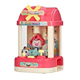 ForBEST Claw Machine Magical Claw Machine Mini Claw Machine with 6 Dolls, 10 Capsules, USB Cable, Best Gift for Kids (Pink)
