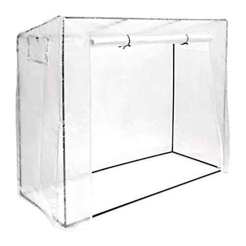 Relaxdays Tomatengewächshaus XL, als Frühbeet und Tomatenzelt, UV beständig, HxBxT: 160 x 200 x 82 cm, transparent