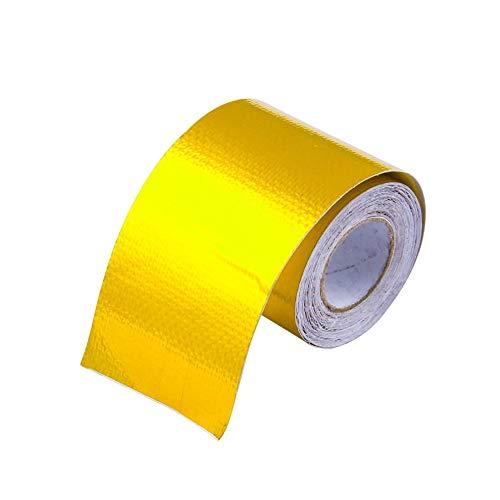 Gold, Gold, Aluminiumfolienband Hochtemperaturbeständige Aluminium Foil Fasertuch für Abgasrohr Dunstabzugshaube Industrie