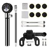Mify Bomba de bicicleta con manómetro flexible para ahorrar energía y bombeo fácil, accesorios para reparación de pinchazos de bicicleta