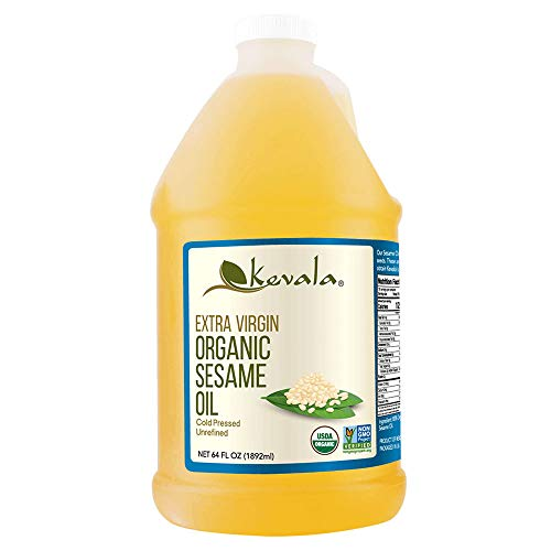 Organic Sesame Oil, Kevala, 1/2 Gallon
