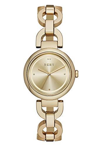 DKNY Damen-Uhren Analog Quarz One Size Gold Edelstahl 32003416