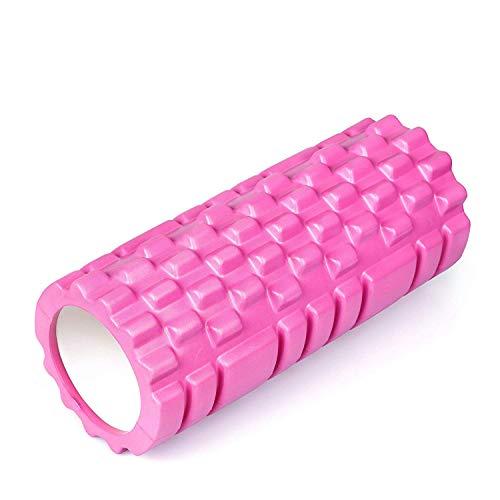 Joyletics® Faszienrolle »Groove« 14x33 cm pink für die tiefgreifende Massage des Bindegewebes | Faszientraining mit dem Foam Roller Noppen und Rillen aus hochwertigem Eva & PVC