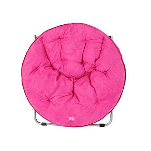 WJJ Slla Plegable Terraza Silla Silla Silla Lavable Luna Adulto Tumbona Lazy Lounge Sillón Inicio Tumbona (Color : Pink)