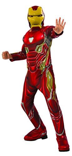 Avengers - Disfraz oficial de Iron Man Deluxe para niños, Infinity War, 8-10 años (641056-L)