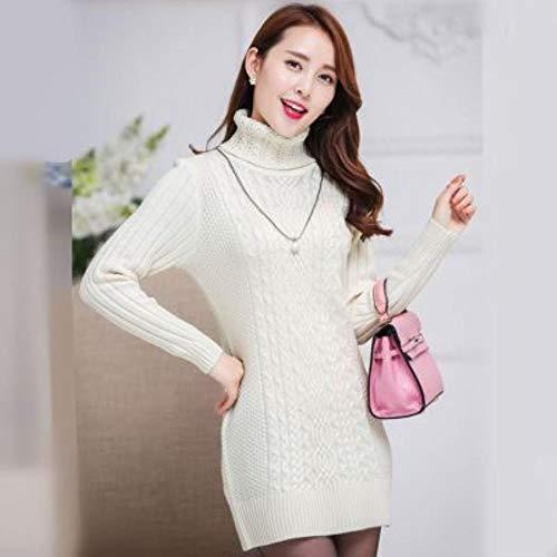 BXM dames lange sweater turtleneck Solid Color gebreide trui casual dames tops sweatshirt