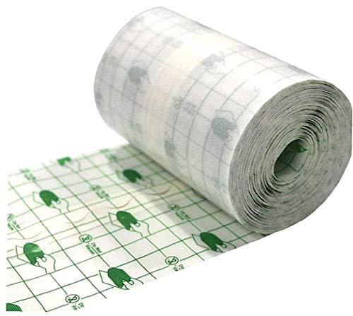 lulongyansf Medizinischer Wundverband Fixer Wasserdicht Transparent Film Roll Heftpflaster Stretch Fixation Tape Nachbetreuung Verband Anti-allergie-self-Paste 15cmx10m