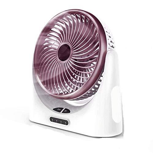 ECSWP El Mini Ventilador eléctrico portátil silencioso Recargable Ajustable del Mini Ventilador, se Puede Utilizar en Cama de la Oficina del Dormitorio del Estudiante
