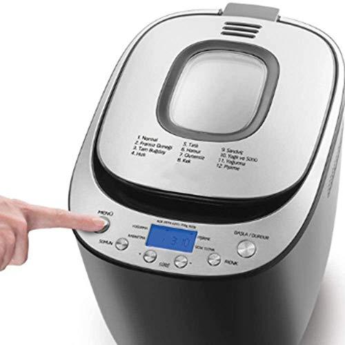 Sooiy Funciones Automático Día predefinidos de máquina de Hacer Pan Inocentes Fast-Bake amigable para los Principiantes panadería Pan Máquina de Hacer Pan Temporizador de retardo