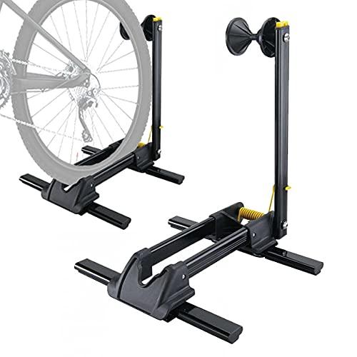 Aleación de Aluminio Taller Bicicleta,Aparcabicicletas Suelo Ajustable, Ligero, Portátil Suporte Bicicleta para 20-29' Bicicleta
