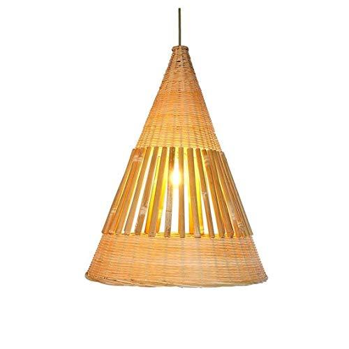 JYDQM Estilo Chino Hueco Simple Araña Linternas de bambú Vintage Lámpara Colgante Pasillo Creativo Balcón Zen Lámpara Colgante de bambú Restaurante Casa de té Luces de Techo