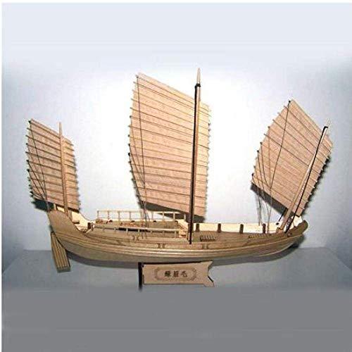XIUYU Wohnzimmerdekorationen Segel Modell aus Holz Schiffsmodelle Kits Boote Schiffsmodellbausatz Segel pädagogisches Spielzeug Model Kit Holz-Skala Chinese Antique Sailboat