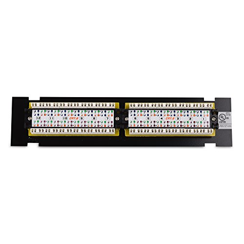 Cable Matters UL Listed 12-Port Cat6, Cat 6 Vertical Mini Patch Panel with 89D Bracket