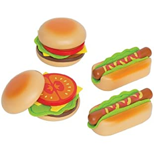Hape HAP-E3112 Hamburgers and Hotdogs, Multicoloured