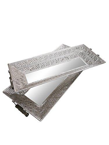 Présentoir en métal Ardoise et Rose Argenté Grand Format 61 cm 28 cm Taille S : L 55 cm x l 24 cm x H 5 cm
