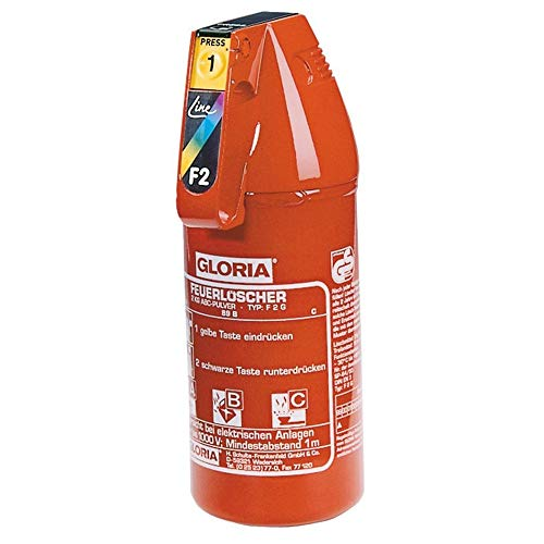GLORIA F2G Feuerlöscher 2 KG ABC DIN EN3 (1 kg = 32,98 Euro)