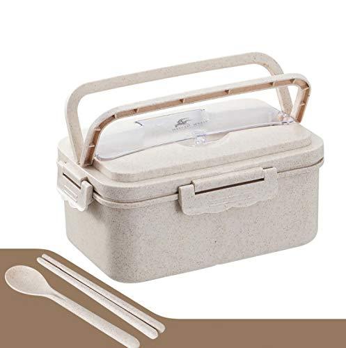 Old Tjikko Bento Lunchbox,Brotdose mit Fächern,Unterteilung Design Brotdose für die Arbeit und Schule Spülmaschinenfeste