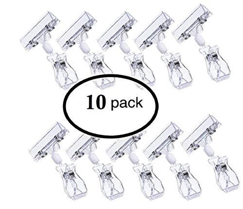 Voarge Drehbare Warenzeichen-Clip Preis-Zeichen-Anzeige Clip-on, Preisschild-Anzeigen-freie Farbe Clip-on 10 Satz