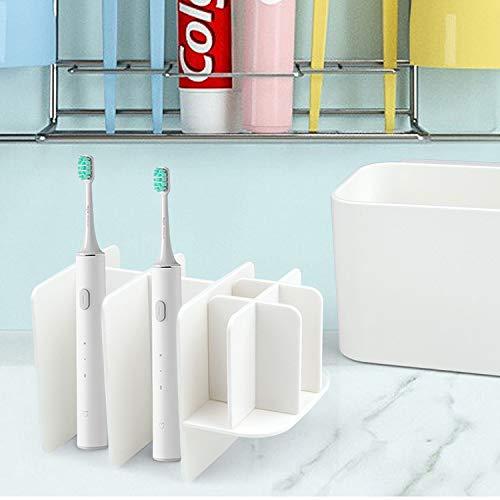 Blanco Soporte de Cepillo de Dientes con Ventosa f/ácil de almacenar Desmontable WolinTek Soporte para Cepillo de Dientes el/éctrico Portacepillos De Diente
