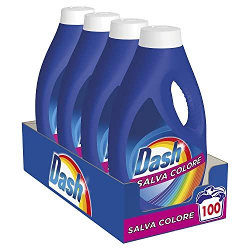 Dash Detersivo Lavatrice Liquido Salva Colore, Formato Convenienza 100 Lavaggi, 4 Confezioni da 25 Lavaggi