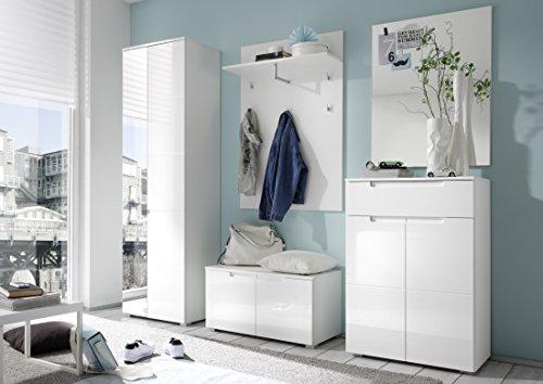 Garderoben-Set weiss Hochglanz